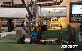 机器人上下料方案,外圆磨床磨削测试